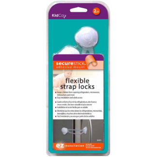Kidco Flexible Strap Lock 2 pack White