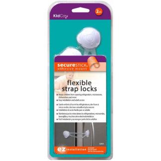 Kidco Flexible Strap Lock 2 pack White