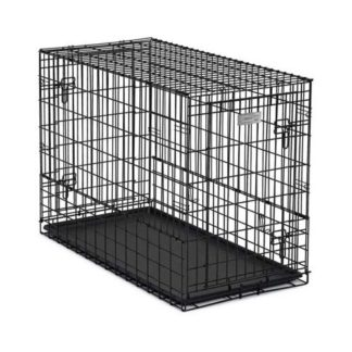 "Midwest Solutions Series Side-by-Side Double Door SUV Dog Crates Black 42"" x 21"" x 30"""