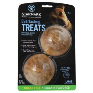 "Starmark Everlasting Treat Veggie Chicken 2 pack Large Brown 3.5"" x 3.5"" x 1.5"""