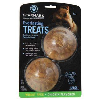 """Starmark Everlasting Treat Veggie Chicken 2 pack Small Brown 1.5"""" x 1.5"""" x 0.5"""""""