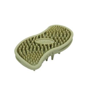 "Safari Cat Soft Tip Massager Brush Green 4.5"" x 2.5"" x 1.25"""