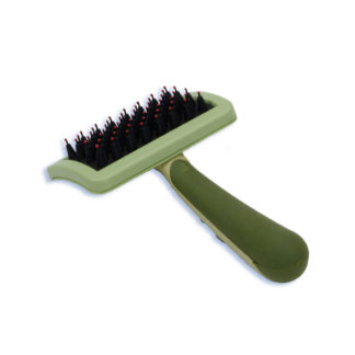 "Safari Nylon Coated Tip Dog Brush for Shorthaired Breeds Green 6.75"" x 4"" x 1"""