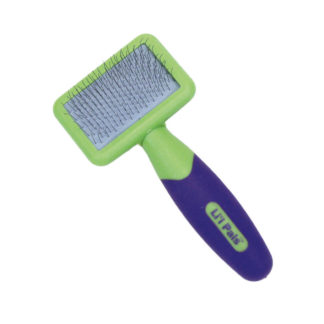 "Coastal Pet Products Lil'l Pals Kitten Slicker Brush with Coated Tips Green / Purple 5"" x 2.3"" x 1"""