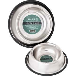 "PetEdge No-Tip Non-Skid Stainless Steel Bowl 16 oz 5"" x 5"" x 2"""