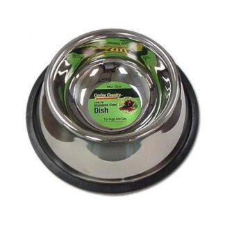 "PetEdge No-Tip Non-Skid Stainless Steel Bowl 24oz. 6"" x 6"" x 2"""